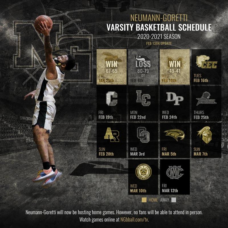Neumann-Goretti Basketball Schedule 2021